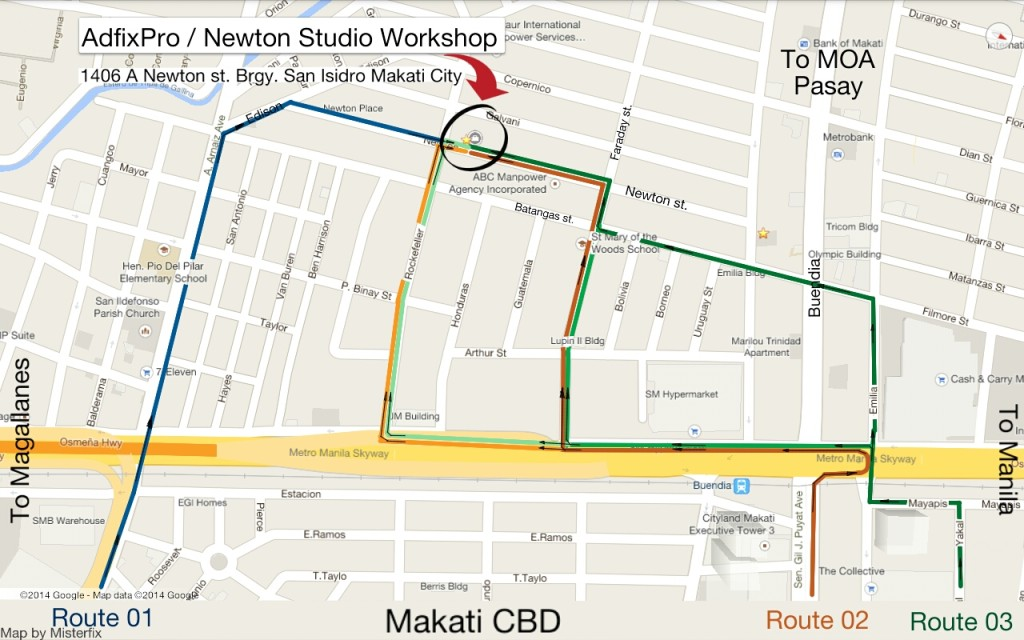 Newton Studio / AdFix map
