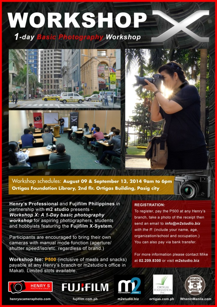 Workshop X | Basic photography workshop supported by Henry's Professional and Fujifilm in partnership with m2 studio